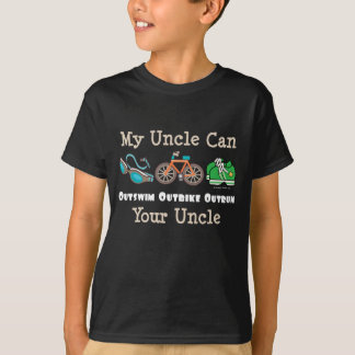 Uncle Outswim Outbike Outrun Triathlon Kids Tee