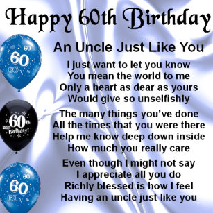 60th Uncle Birthday Gifts Gift Ideas