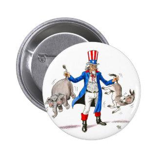 Uncle Sam 3 6 Cm Round Badge
