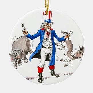 Uncle Sam 3 Christmas Ornament