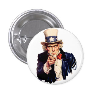 Uncle Sam 3 Cm Round Badge