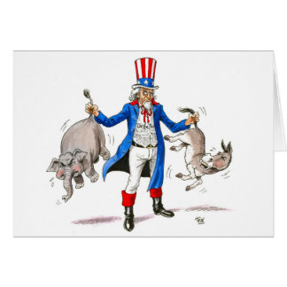 Uncle Sam 3 Greeting Card