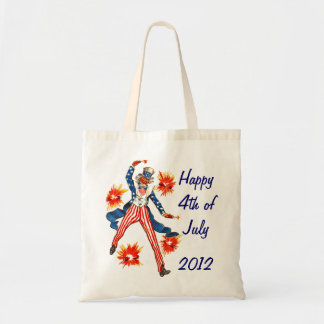 Uncle Sam 4th of July Tote Choose Bag Size &UrText