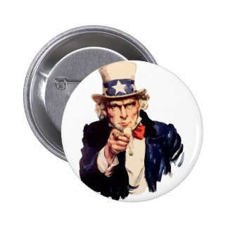 Uncle Sam 6 Cm Round Badge