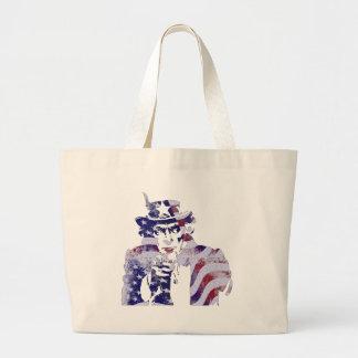 Uncle Sam America USA National Flag Independence D Large Tote Bag