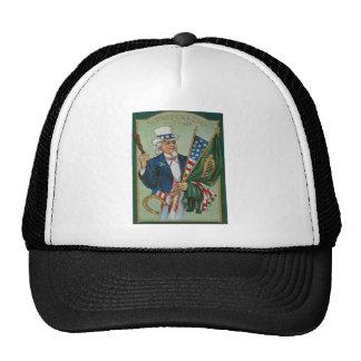 Uncle Sam American Irish Flag Lucky Horseshoe Cap
