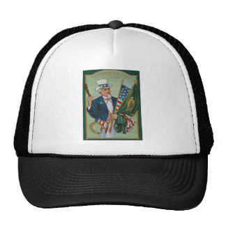 Uncle Sam American Irish Flag Lucky Horseshoe Hats