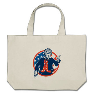 Uncle Sam American Pointing Finger Flag Retro Bags