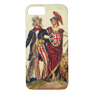 Uncle Sam and Britannia iPhone 8/7 Case