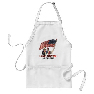 Uncle Sam and Lady USA Standard Apron