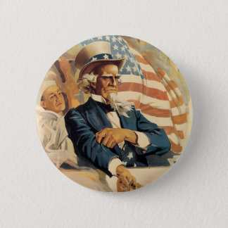 Uncle Sam and the Navy 6 Cm Round Badge