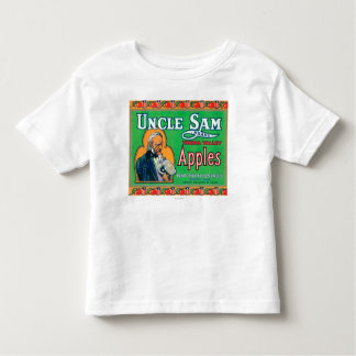 Uncle Sam Apple Label (green) - Wapato, WA Toddler T-Shirt