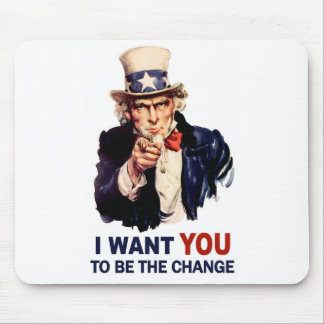Uncle Sam Be the Change Mouse Pad