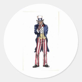 Uncle Sam Classic Round Sticker