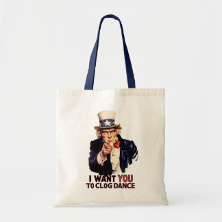 Uncle Sam Clogging Dance Canvas Bags
