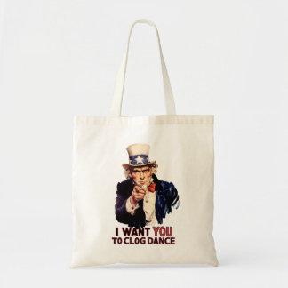 Uncle Sam Clogging Dance Budget Tote Bag