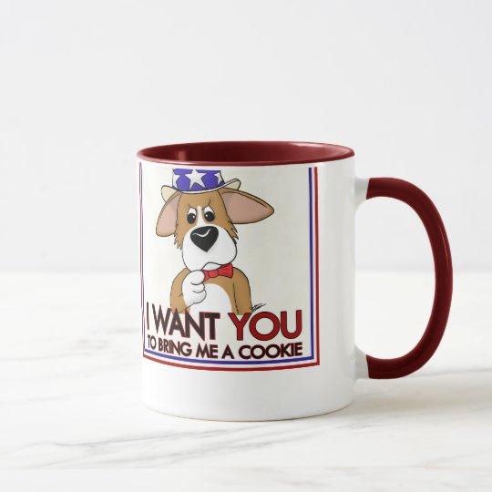 Uncle Sam Corgi Mug