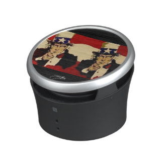 Uncle Sam (double) painting on a Bumpster Speakers Speaker