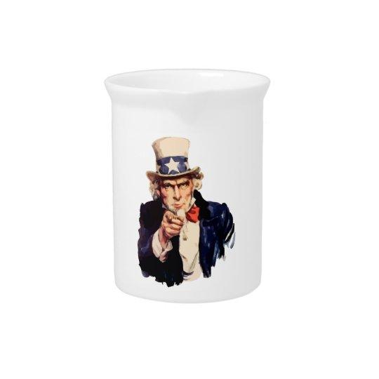 Uncle Sam Drink Pitcher