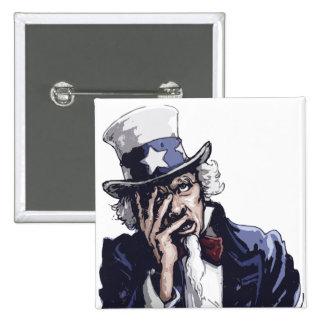 Uncle Sam Facepalm 15 Cm Square Badge
