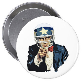 uncle sam football 10 cm round badge