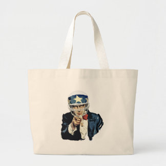 uncle sam football tote bags