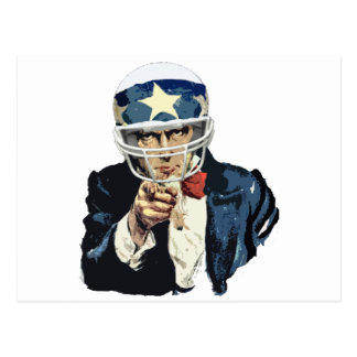 uncle sam football postcard