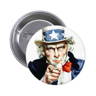 Uncle Sam - from vintage Flagg poster 6 Cm Round Badge
