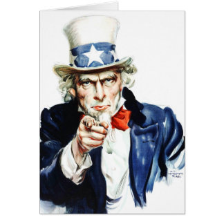 Uncle Sam - from vintage Flagg poster Greeting Card