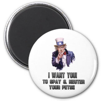 uncle sam gray 6 cm round magnet