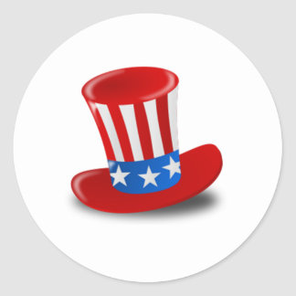 Uncle Sam Hat Classic Round Sticker
