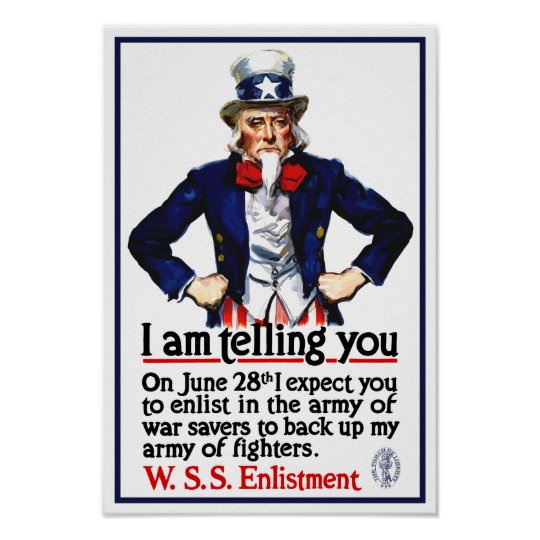 Uncle Sam -- I Am Telling You Poster