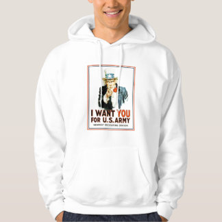 Uncle Sam I Want You Army Hoodie