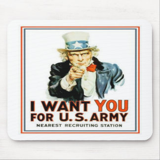 Uncle Sam I Want You Army Mousepad