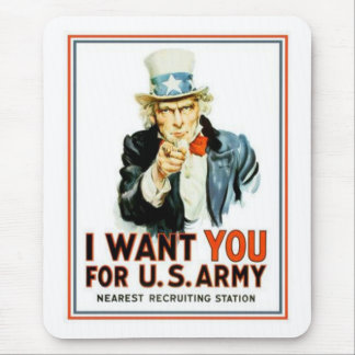 Uncle Sam I Want You Army Mouse Pad