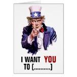 """Uncle Sam """"I Want You"""" Customisable"""