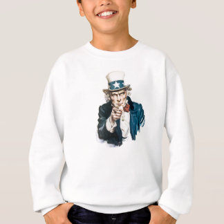 Uncle Sam I Want You Customize With Your Text Sweatshirt