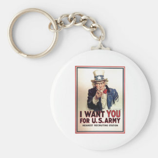Uncle Sam I Want You For US Army Key Ring