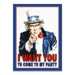 Uncle Sam - I WANT YOU - Party Invitation