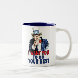 UNCLE SAM: I WANT YOU to do your best Two-Tone Coffee Mug