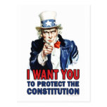Uncle Sam: I want you to protect the constitution Postcard