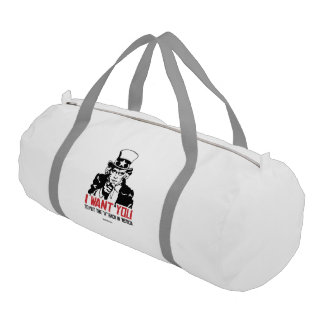 Uncle Sam-I want you to put the A back in 'Merica Gym Duffel Bag