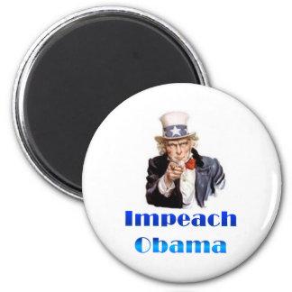 Uncle Sam Impeach Obama 6 Cm Round Magnet