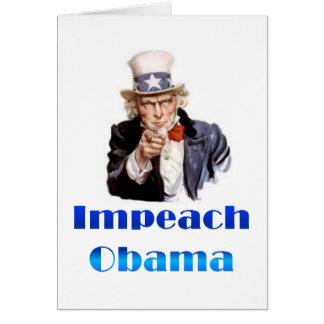 Uncle Sam Impeach Obama Card
