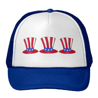 Uncle Sam July 4th USA Patriotic American Flag Hat