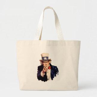 Uncle Sam Jumbo Tote Bag