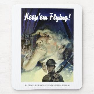 Uncle Sam -- Keep Em Flying Mouse Pads