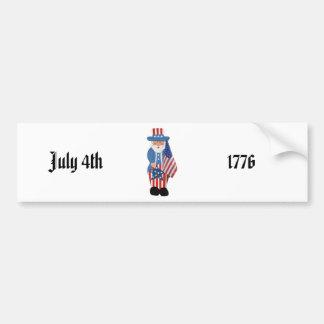 Uncle Sam Logo Car Bumper Sticker
