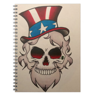 uncle sam note pad spiral note book