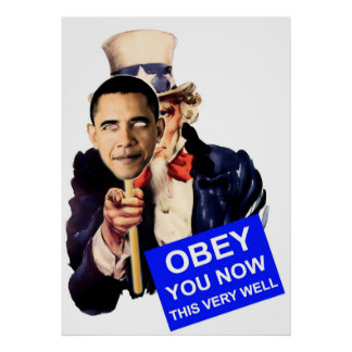 uncle sam, obey, obama poster